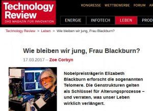 technologie-review -Wie bleiben wir jung, Frau Blackburn?